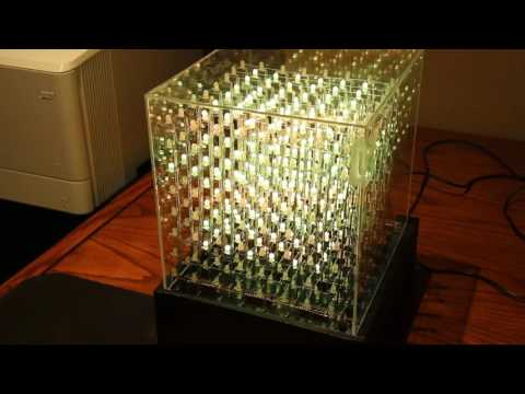 8x8x8 RGB cube with music processing circuit (in light)