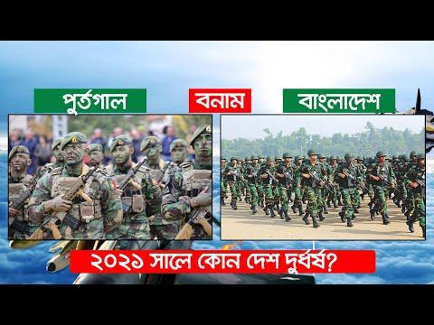 পুর্তগাল বনাম বাংলাদেশ   কোন দেশ বেশি শক্তিশালী? Portugal Vs Bangladesh Military Comparison 2021 