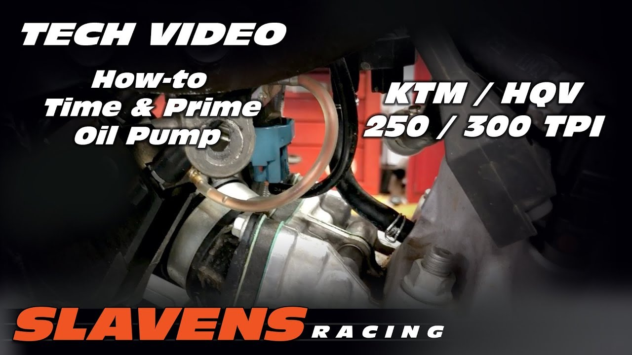 how to time prime ktm hqv 250 300 tpi oil pump [ 1280 x 720 Pixel ]