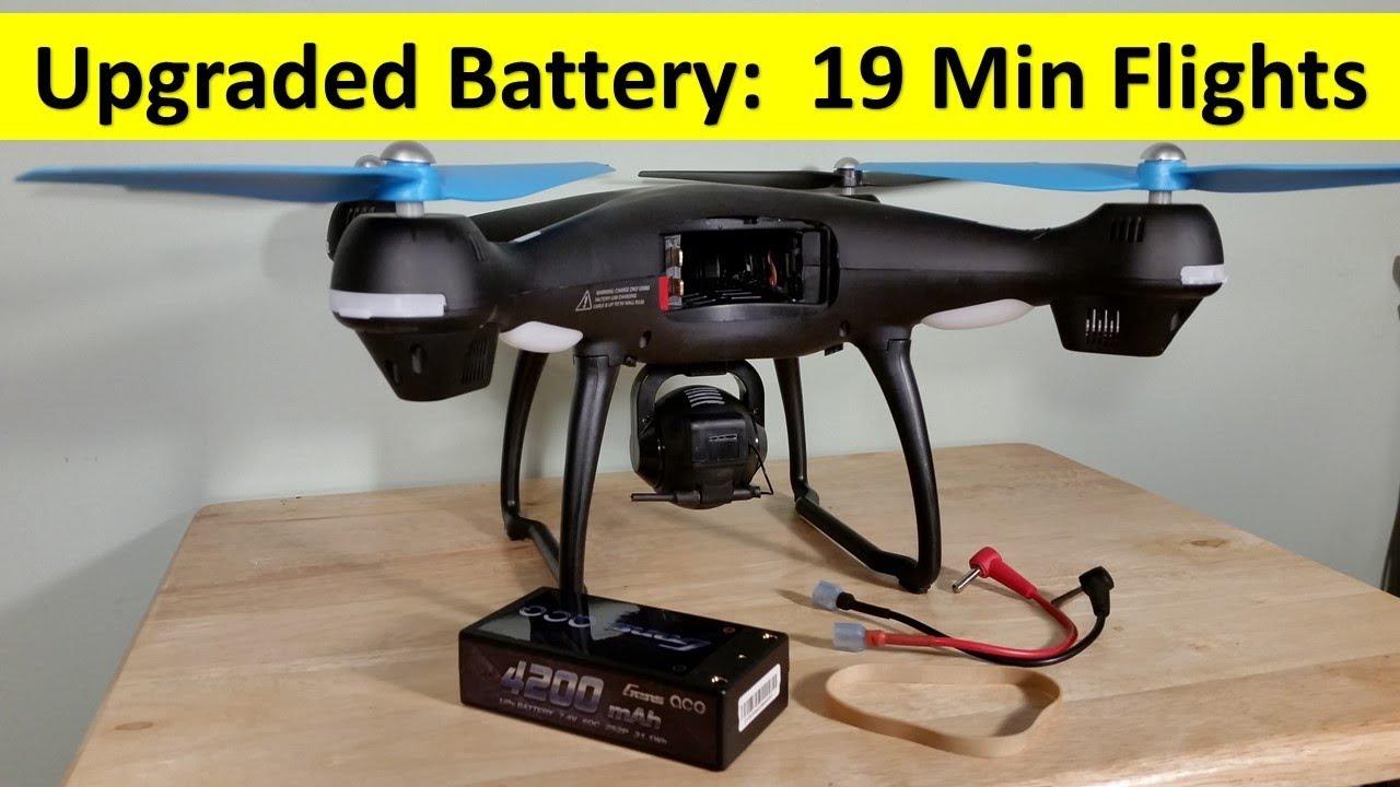 Upgraded 19 Min Batteries Promark GPS Shadow Drone