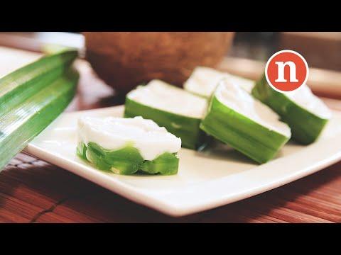 Malaysian Coconut Jelly Dessert | Kuih Tako Pandan [Nyonya Cooking]