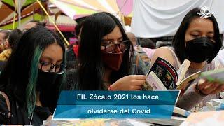Como si de tiempos prepandemia se trataran, la Feria del Libro del Zócalo de la CDMX, terminó este domingo con una gran asistencia