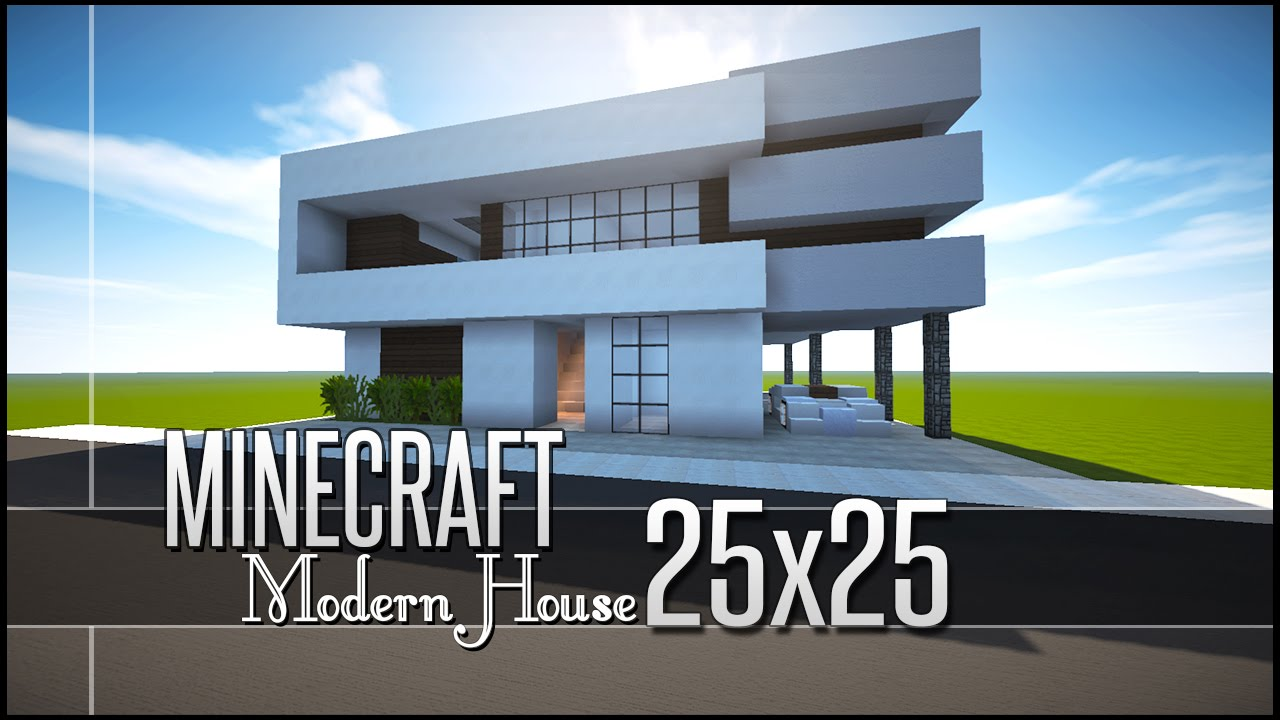 minecraft let 39 s build small modern house 25x25 download