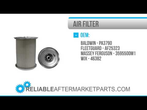 1511 3595500M1 New Massey Ferguson Air Filter 365 375 383 390 390T 398 399  Tractor