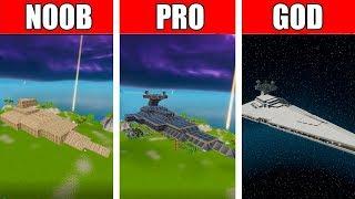 Fortnite NOOB vs PRO vs GOD: STAR WARS DESTROYER  BUILD CHALLENGE in Fortnite
