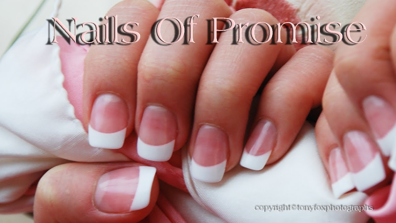 Acrylic Pink White Tutorial Complete Step By Nails Of Promise You