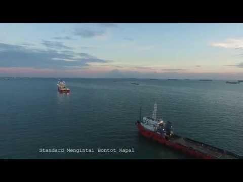 Singapore Strait Aerial View