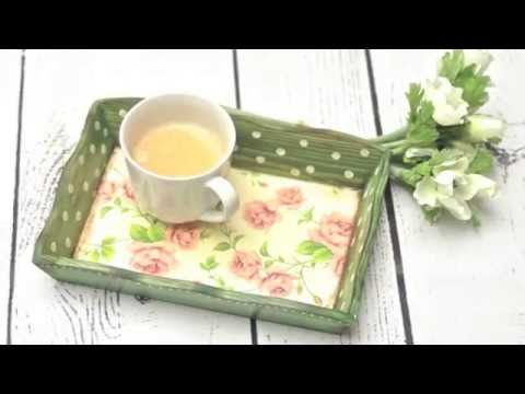Exceptional How To Decorate A Wooden Tray Decoupage Tutorial