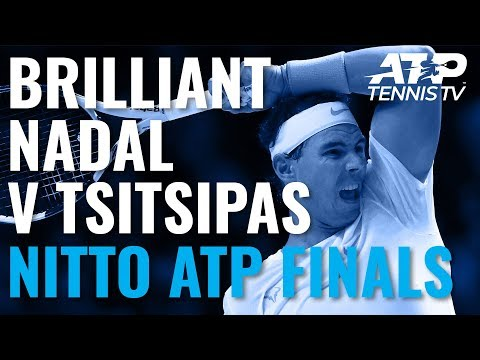 Epic Rafael Nadal Shots in Win Over Tsitsipas! | Nitto ATP Finals 2019