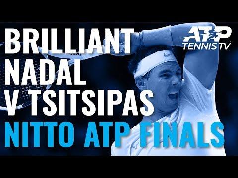 Epic Rafael Nadal Shots in Win Over Tsitsipas! | Nitto ATP Finals 2019