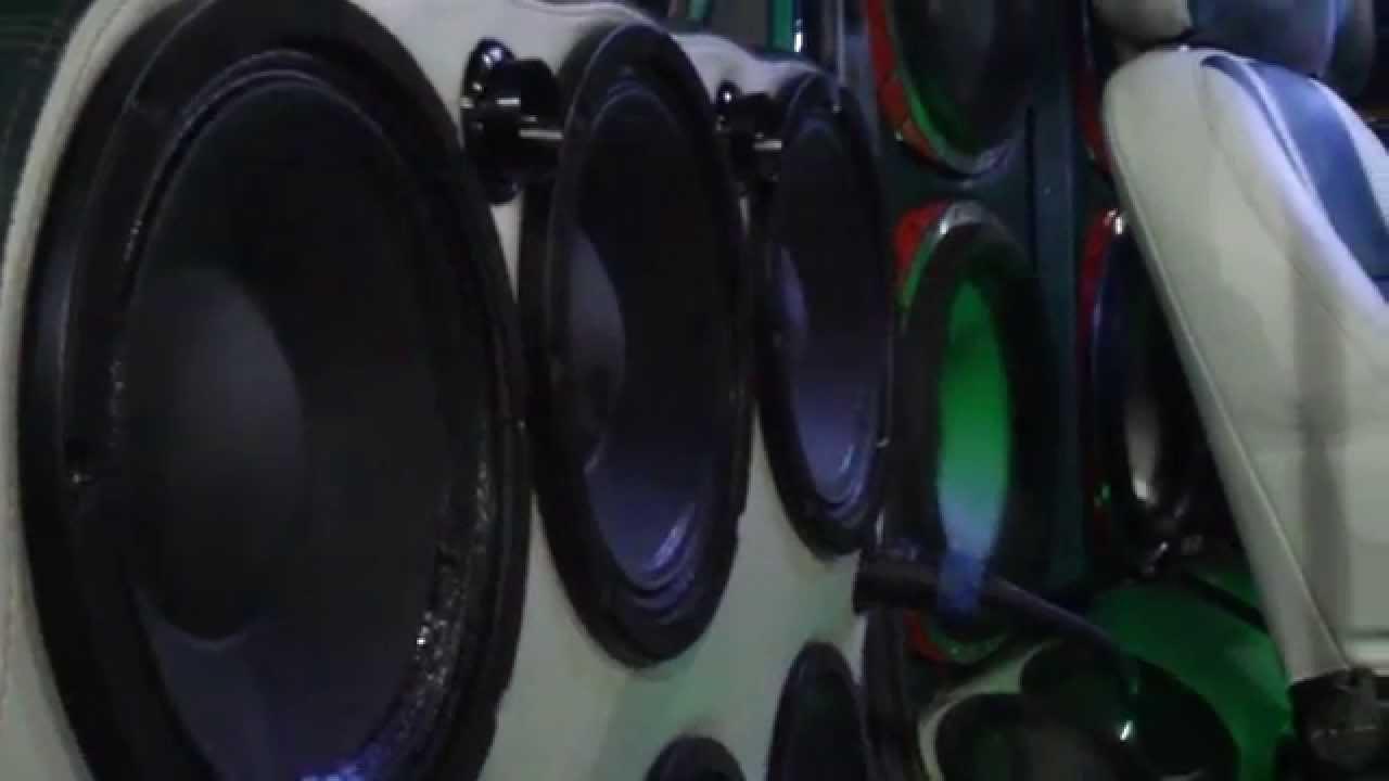 Sbn 2011 loudest door speakers ever beyma mids highs horns w 4 walled orion hcca subwoofers youtube