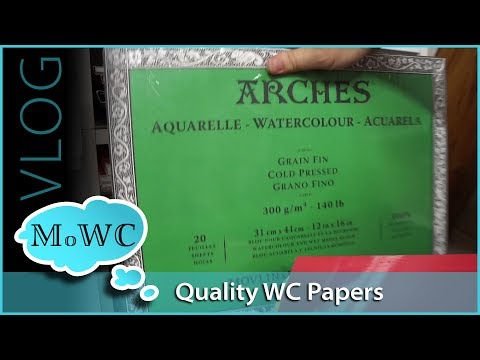 What's On My Watercolor Paper Shelf + 100k Stonehenge Aqua Giveaway!