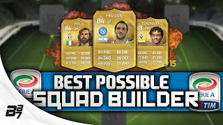 BEST POSSIBLE SERIE A TEAM! w/ CUADRADO and PIRLO | FIFA 15 Ultimate Team