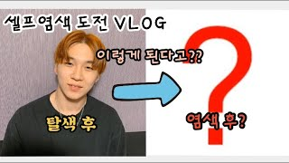 (Vlog)남자 셀프염색 도전!!색깔 추천! 색깔 미쳤…