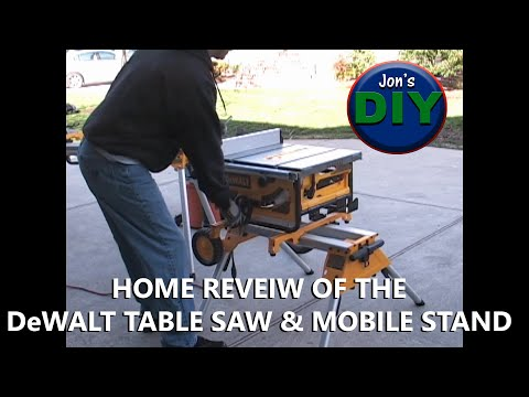Dewalt DW745 Table Saw And Stand Home Review