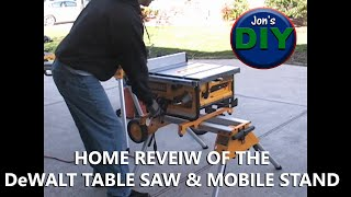 Dewalt DW745 Table Saw and Miter Saw stands