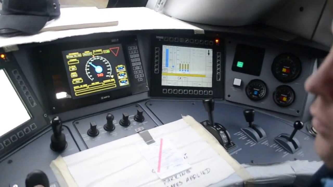 Видео из кабины электровоза ЭП1 - 1 (video from