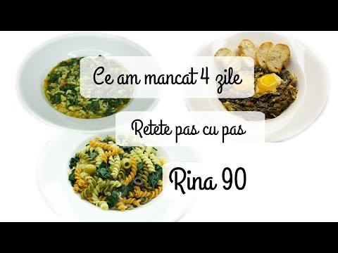 Idei de meniuri dieta Rina