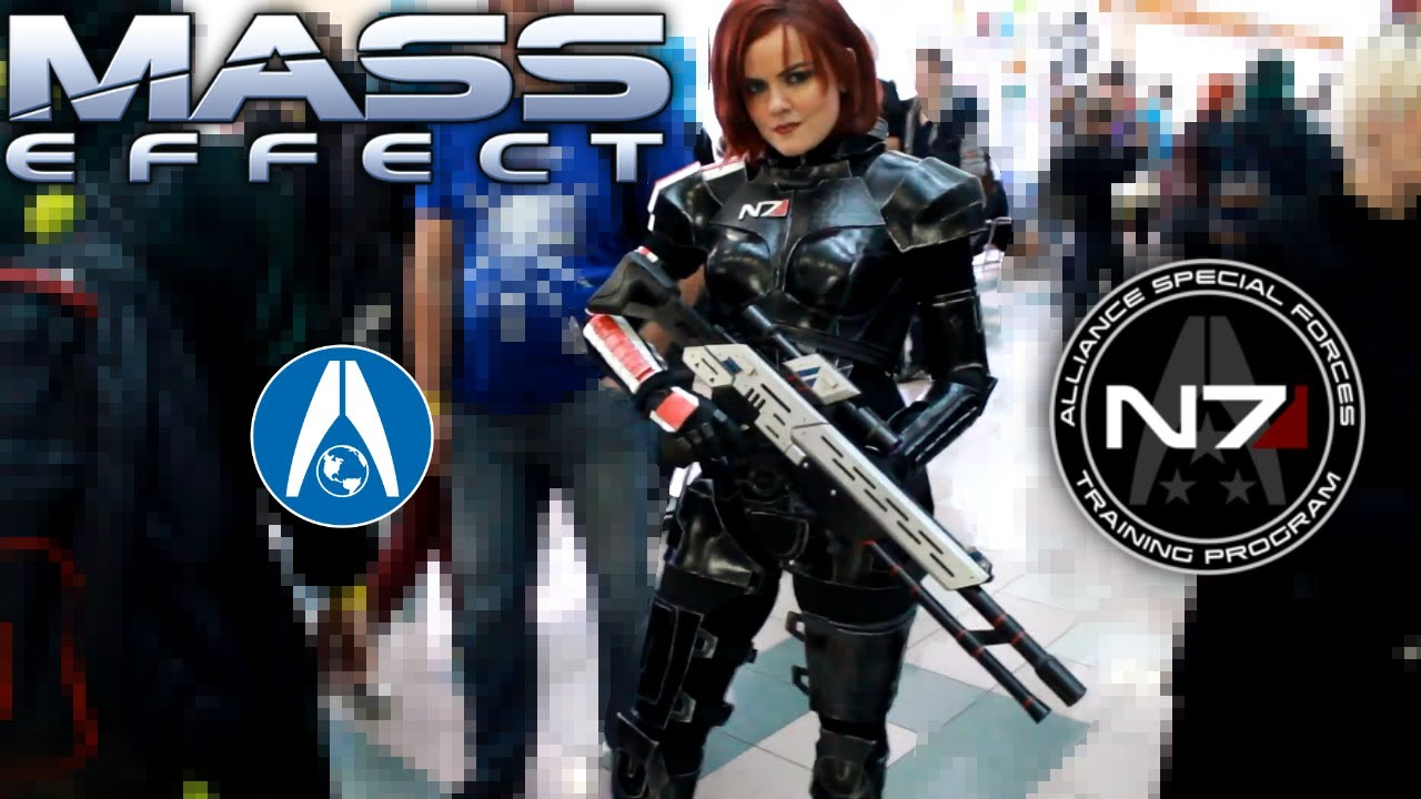 Mass Effect Commander Shepard Cosplay With N7 Armor At Unitycon 2019