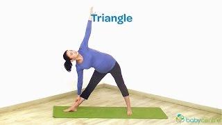 Pre-natal yoga - 2nd trimester: Triangle pose