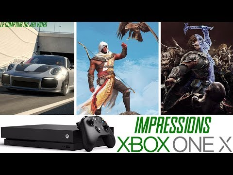 Xbox One X : j'y ai joué ! Assassin's Creed Origins, Forza Motorsport 7, L'Ombre de la Guerre