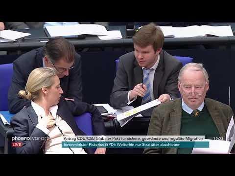 Bundestagsdebatte zum globalen Pakt für Migration am 29.11.18