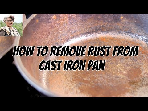 How To Clean, Season, & Restore - Remove Rust From Cast Iron Pan In 5 Minutes | Skinny Recipes