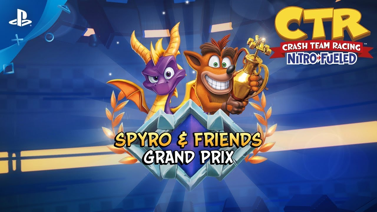 Crash Team Racing Nitro-Fueled | Tráiler de Gran Premio Spyro y amigos | PS4