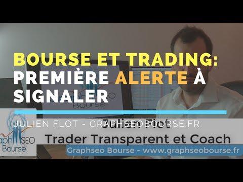 Bourse et trading: première Alerte