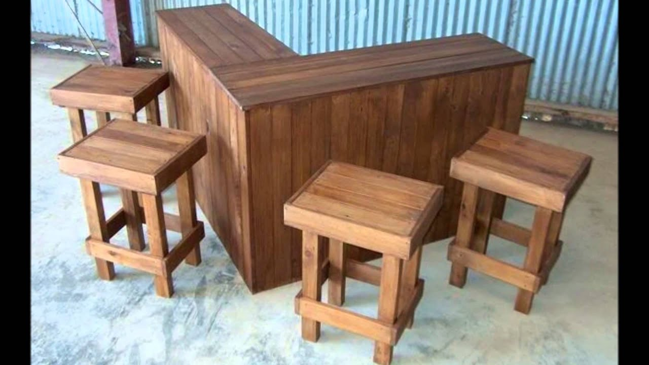 Designer Outdoor Bar + 5 X Stools Set   YouTube