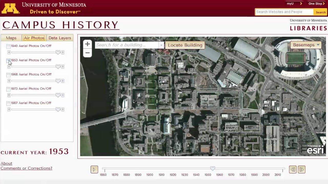 Campus History Map University Of Minnesota Youtube