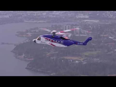 Bristow Group Flies a Sikorsky S 92® Helicopter Over the North Sea