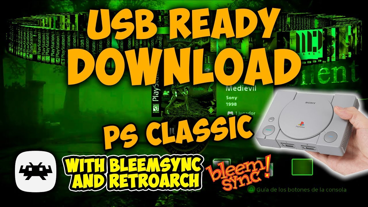 Make Your Own Playstation Classic USB READY Drive including
