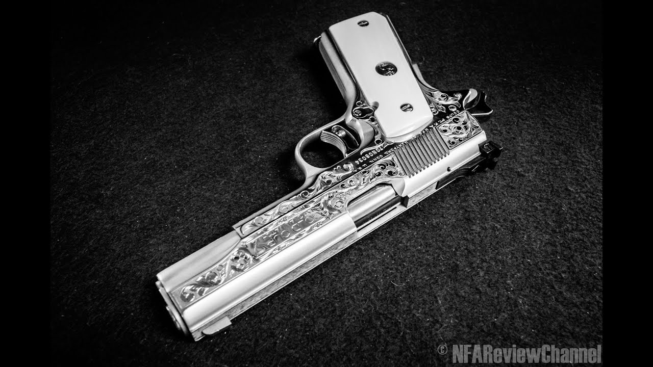 Completely engraved colt 1911 slide