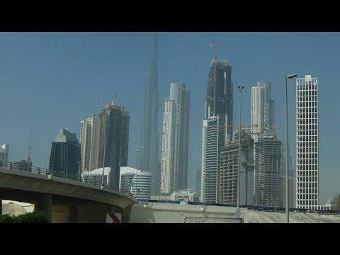 Downtown Dubai to Dubai Airport by taxi.