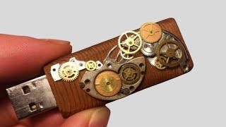 Steampunk Wooden USB