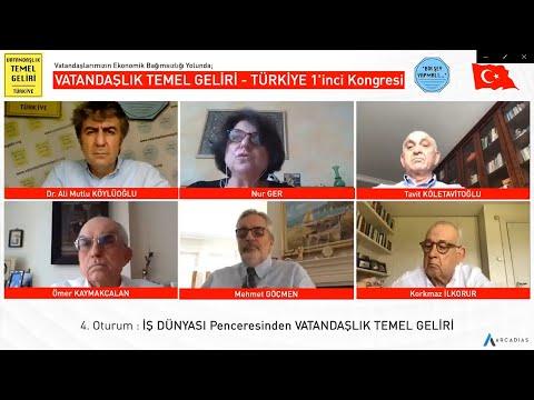 İŞ DÜNYASI Penceresinden VATANDAŞLIK TEMEL GELİRİ / VTG -  TÜRKİYE 1'inci Kongresi