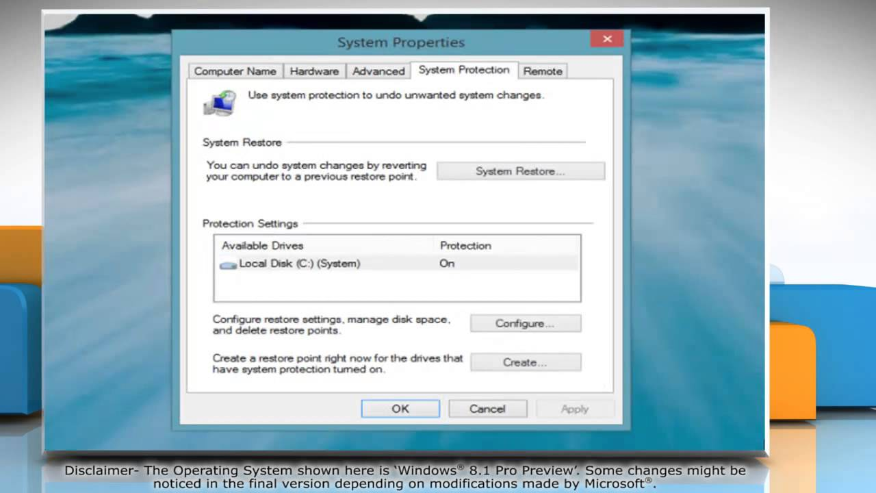 System Restore Windows 8: step by step instructions 44