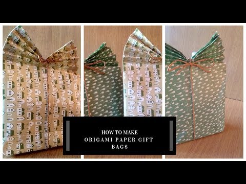 HOW TO  MAKE ORIGAMI PAPER GIFT BAGS #2