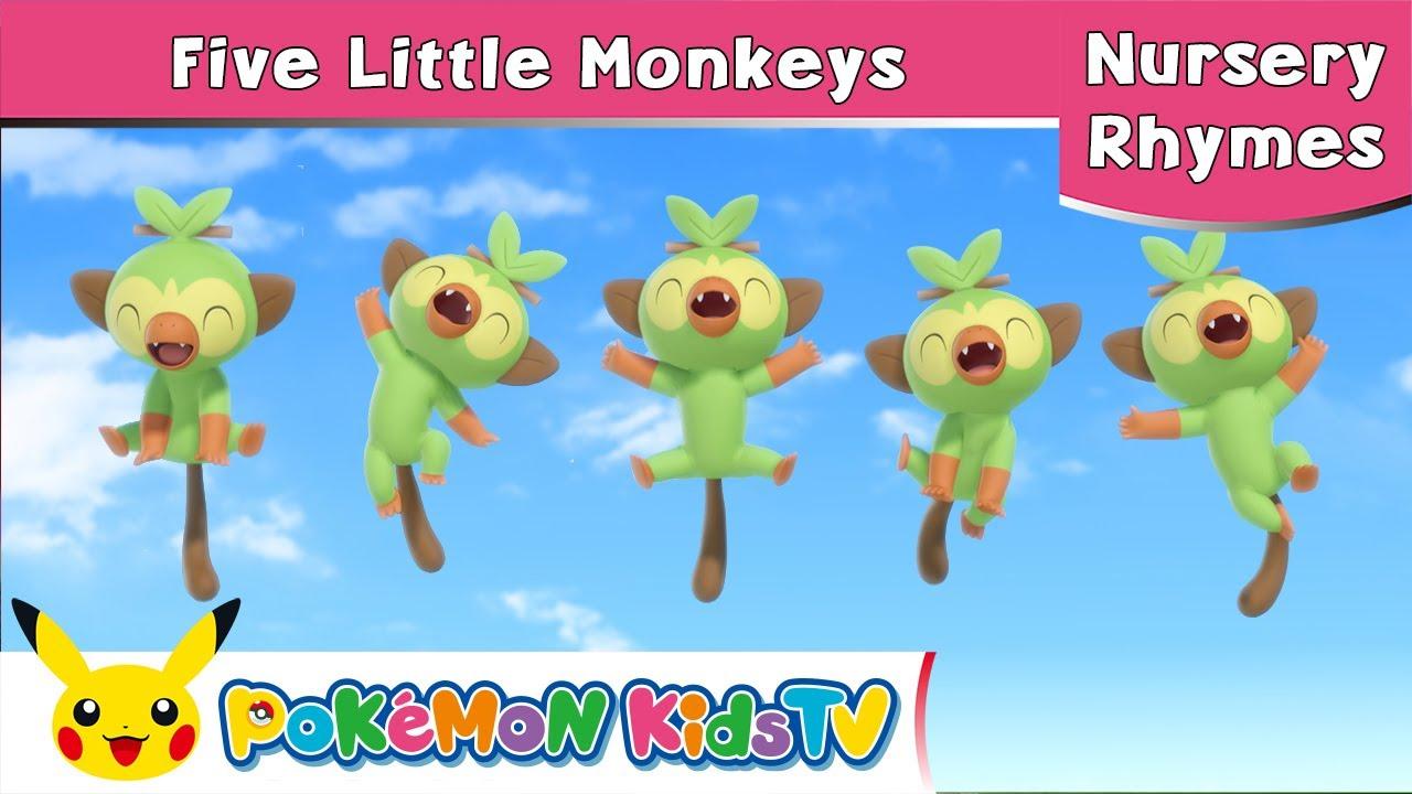 【ポケモン公式】Five Little Monkeys-ポケモン Kids TV 英語のうた