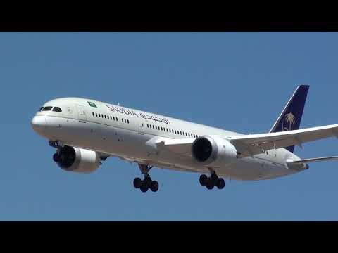 Saudia Boeing 787-900 Dreamliner HZ-AR13 Landing Malaga LEMG