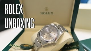 Rolex Unboxing - 2015 Oyster Perpetual Ref 114300