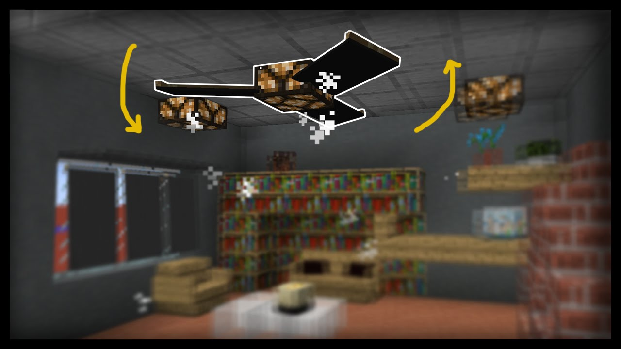 Minecraft: How to make working ceiling fans - YouTube