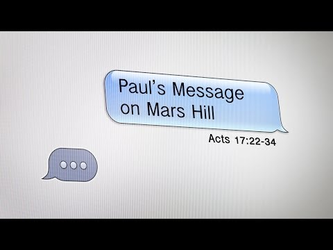 Paul's Message on Mars Hill (Acts 17:22-34)