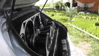 Som automotivo Fiat Bravo trio snake e Banda