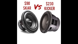 Kicker CompQ vs Skar SDR10 10 inch subwoofers