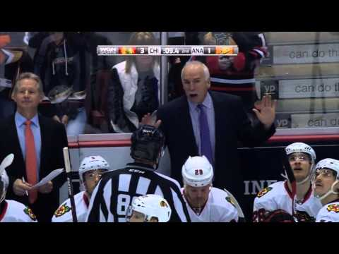 Kyle Palmieri Boarding & Game Misconduct on Johnny Oduya 11/28/2014 WGN FEED