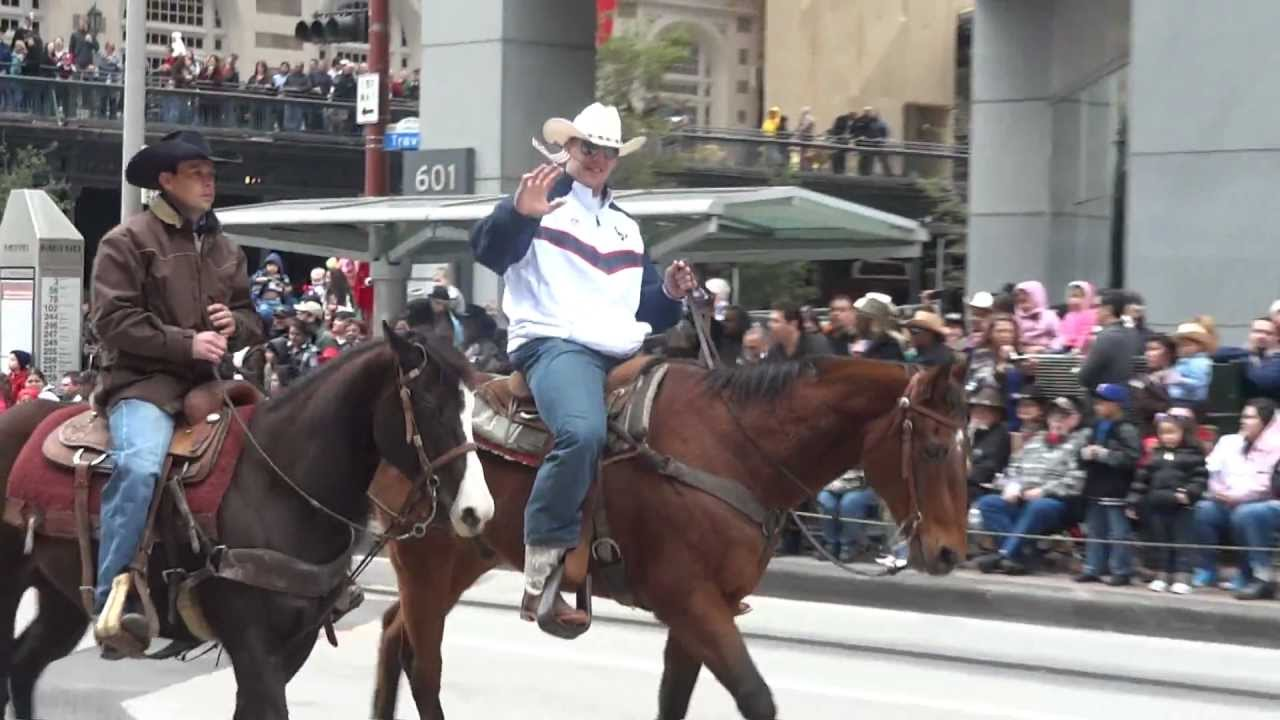 Andre Johnson Amp J J Watt At The Houston Rodeo Parade Youtube