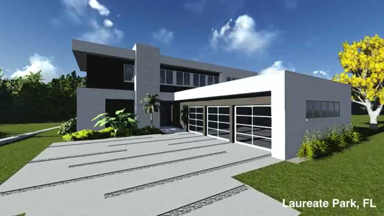 Custom modern home laureate park orlando florida for Modern florida homes