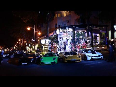 Dàn siêu xe hội tụ hoành tráng nhân dịp sinh nhật lần 2 của New Life Coffee | VietNam SuperCars